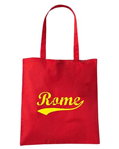 Borsa Shopper Rossa TSTEM0259 VINTAGE ROME RED
