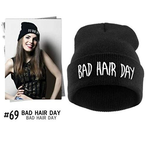 RXIN Women Men Hats Bad Hair Day Beanie Winter Hats, Knitted Bonnet Femme, Gorros Mujer Invierno, Gorro Touca Casquette Homme at Amazon Womens Clothing ...