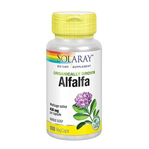 Solaray Organic Alfalfa Supplement, 430 mg, 100 Count