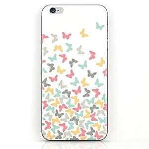 WQQ patrón de vuelo de la mariposa colorida caleta caso duro para el iphone 6