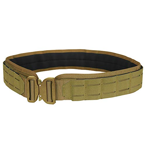 Condor Outdoor LCS Cobra Tactical Belt 121175 (Coyote Brown, Small/Medium: 34.5