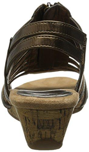 A2 Par Aerosoles Des Femmes De Yetaway Sandale Compensée Serpent De Bronze