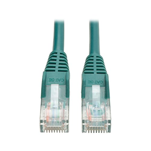 Tripp Lite Cat5e 350MHz Snagless Molded Patch Cable (RJ45 M/M) - Green, 3-ft.(N001-003-GN)
