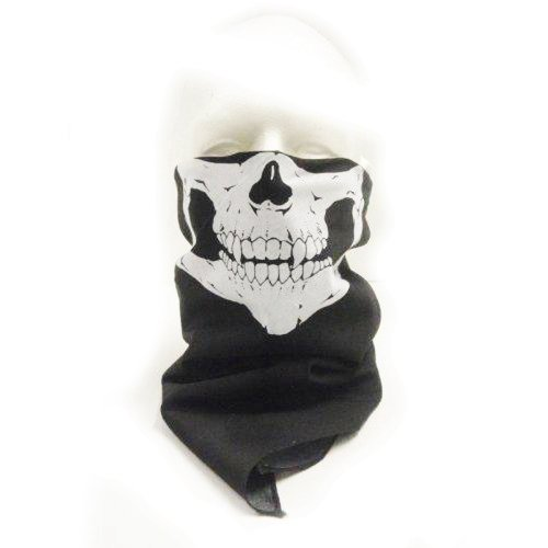 Half Skeleton Skull Bandana - Face Mask (Skeleton Halloween Mask)
