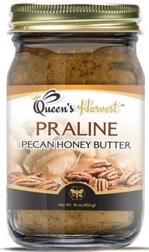 Queen's Harvest Praline Pecan Honey Butter - 16 Ounce