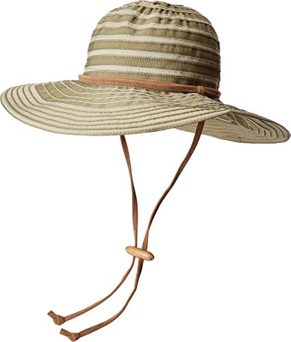 San Diego Hat Company Women's RBL4782 Chin Cord Ribbon Floppy Olive One Size