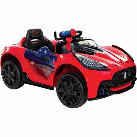 Spider-Man Super Car 6-Volt Battery-Powered Ride-On - Classic red and blue Spider-Man finish with graphics - Requires one 6V battery (battery and charger included) ()