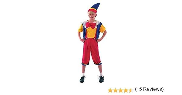 Pinocho - Niños Disfraz - Pequeño - 110 a 122cm: Amazon.es ...