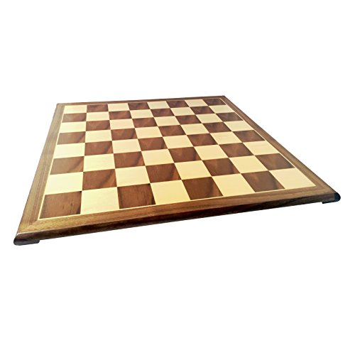 WE Games Wooden Chess & Checkers Board with Pedestal