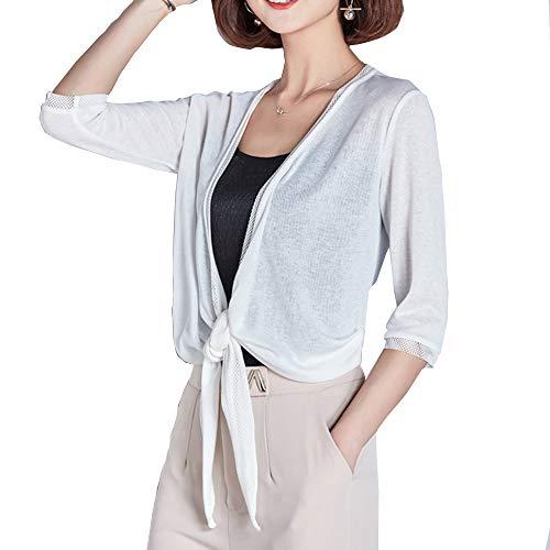 SunBoss Bolero Shrugs Lace Sheer for Women Evening Dresses Short Sleeve Crochet Patterns