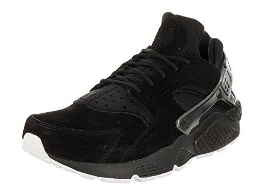 NIKE Men's Air Huarache Run PRM Black/Black/Sail Running Shoe 11 Men (Nike Air Total Package)