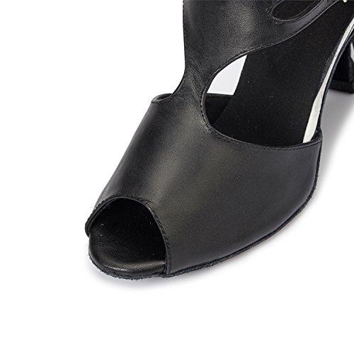 Minitoo Damen th057t-Strap Schnalle Leder Hochzeit Ballsaal Latin Taogo Dance Sandalen, Weiß - Weiß - Größe: 36