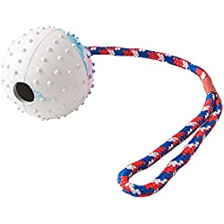 Dog Rubber Toy Ball with Chew Rope for Small to Medium Training