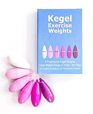Kegel Exercise Weights - 6 Fully Assembled Weights Ranging from 25 to 100g - Includes Kegels4me Tracking Software