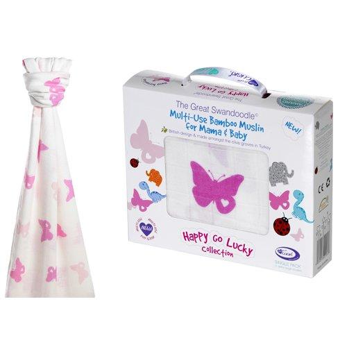 Cuski Great Swandoodle Bamboo Muslin Blanket XL (Happy Butterflies) 300181