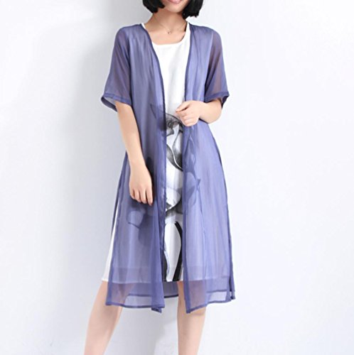 Crepe de chine pleated cotton silk silk bark fake two piece dresses , treasure blue