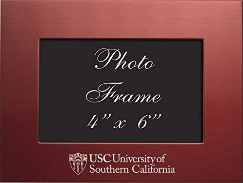 LXG, Inc. University of Southern California - 4x6 Brushed Metal Picture Frame - Red
