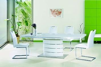 esstisch mit st hlen wei hochglanz. Black Bedroom Furniture Sets. Home Design Ideas