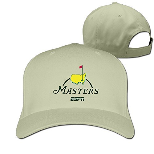 e99557fa Amazon.com: Adult Masters Golf Logo Adjustable Fashion Peak Baseball Cap Hat  Natural (6264532327842): Books