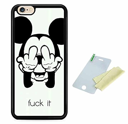 Coque silicone BUMPER souple IPHONE 7 Plus - Fuck cannabis motif 2 DESIGN case + Film de protection OFFERT