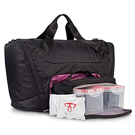 Amazon.com: fitmark Sport Duffel con paquetes de hielo ...