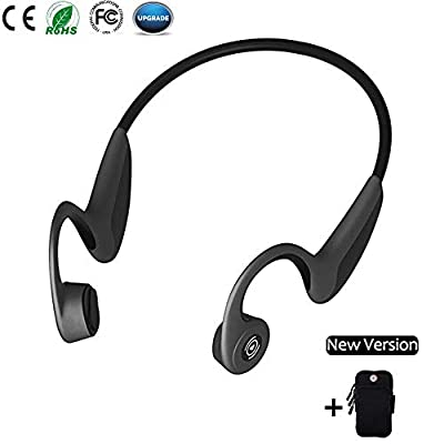Bone Conduction Headphones, Open Ear Bluetooth Wireless Headsets 37g Lightweight Sweatproof Sport Headphones for Safe Plogging Running Driving Cycling Compatible with iPhone Samsung Huawei