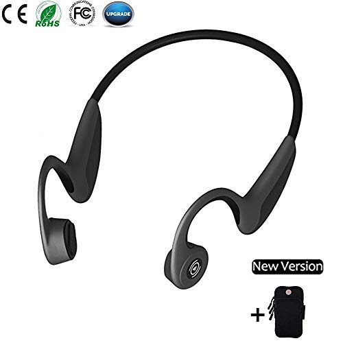 Bone Conduction Headphones, Open Ear Bluetooth5.0 Wireless Headsets 37g Lightweight Sweatproof Sport Headphones for Safe Plogging Running Driving Cycling Compatible with iPhone Samsung