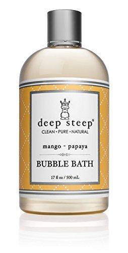 Deep Steep Bubble Bath, Mango Papaya, 17 Ounce