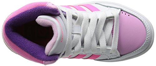 adidas  Vlneo Hoops Mid K, Herren Sneaker weiß Bianco/Grigio/Verde, - BIANCO - ROSA - Größe: 29