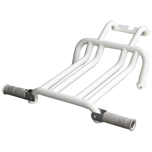 NCY 0800-1031 White Foot Rest with Pegs for the Hoda Ruckus 50cc Scooter (Honda Ruckus Scooter)