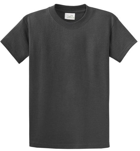 Today Ash Grey T-shirt - Joe's USA(tm Heavyweight 6.1-Ounce, 100% Cotton T-Shirts,L-Charcoal