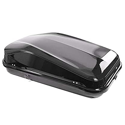 Junior Car Top Roof Box 420L Big Huge Easy Gloss Black Camping 7
