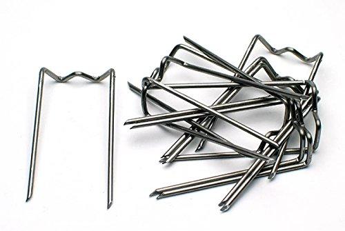 100 pieza Adherida Patente 17/35 krampen, agujas para fijar., alambre Corona de Navidad the-wire-man