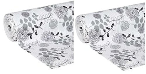 2 Set of Smooth Top Easy Liner, Shelf Liner, 20x 6, Midnight Bloom by: Duck Brand