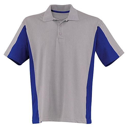 Kübler Arbeit Shirt mit 3er-Knopfleiste, 1 Stück, XS, mittelgrau / kornblumenblau, 50196213-9546-XS
