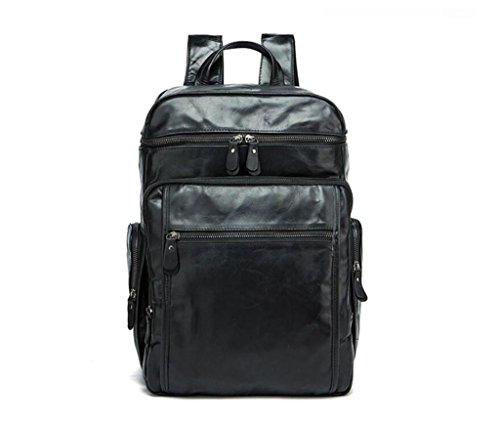 SHOUTIBAO Borsa a tracolla in pelle da uomo/borsa da viaggio di grande capacità/multi-tasche, scuola/viaggi/shopping, 2 1