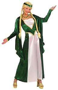 Widmann 57782 - Traje Medieval para mujeres, vestido y tocado, talla M, surtido de colores: ojo, verde o azul