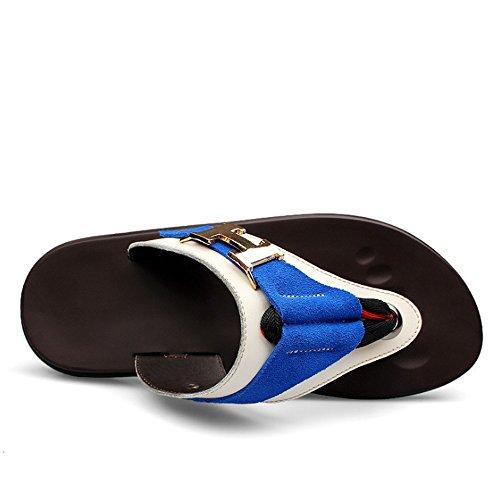 3 Dimensione Estiva 5 Pelle 1 Uomo CM Wagsiyi Di 43 spiaggia Esterno Pantofola da EU Antiscivolo Blu pantofole Colore Pantofola Scarpe In 23 Vacchetta Casual Blu Da Per 5 27 wxYqSxp7