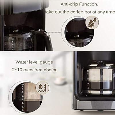 HEYU-Cafetera Cafetera Espresso automática Italiana Vintage, molienda y preparación de café, cafetera doméstica, (1200 ml) Acero Inoxidable, 110V ~ 240V, Potencia 1000W: Amazon.es: Hogar