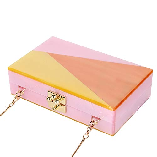 Party Acrylic Puzzle Women Fashion Acrylic Ceometric KLLXEB Evening Clutch Box Purses New Perspective Bag Wedding Clutch Clutch Acrylic w7CdCq0I