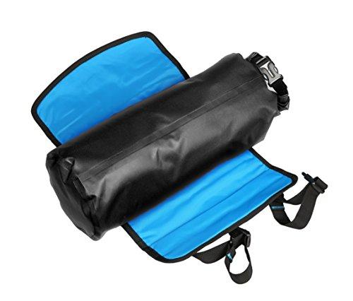 Roswheel Attack Series 111369 Waterproof Adjustable Capacity Bike Bicycle Cycling Handlebar Bag Detachable Dry Pack, Black by Roswheel (Image #3)