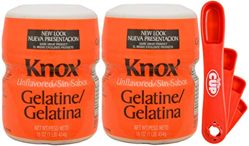 Knox Gelatine Unflavored Clear, Bulk 16 Ounce (Pack of 2) - with Measuring Spoons by By The Cup (Image #5)