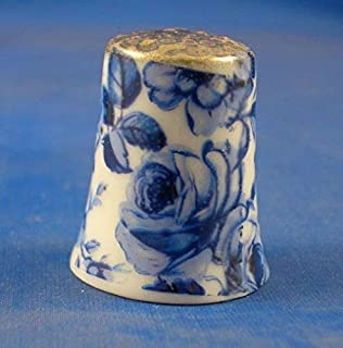 Porcelain China Collectable Thimble Chintz Design Yellow Daffodils