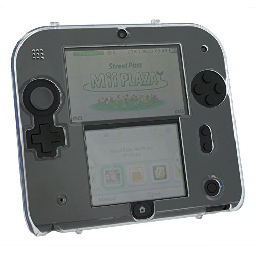 ar polycarbonate plastic hard case protective armour cover shell for Nintendo 2DS ()