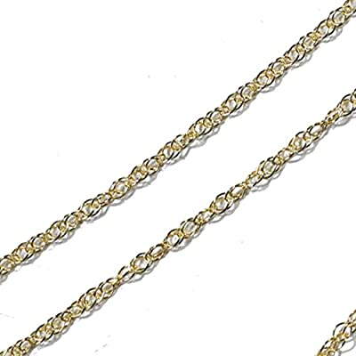 14K Yellow Gold Rope Chain 9R 18 Inch from ugems
