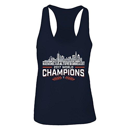 FanPrint Official Sports Apparel Women's Tank Top Jose Altuve Houston Astros - Champions, Size M, ()