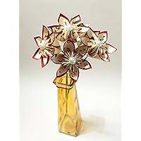 5 Handmade Sheet Music Paper Flowers- Ready To Ship, handmade 1st anniversary gift, small bouquet of daisies, origami wedding decor, summer wedding