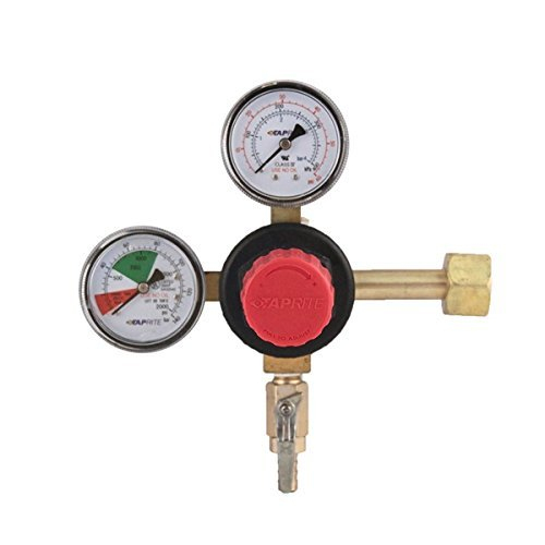Taprite T742HP Primary Double Gauge CO2 Regulator, Brass ()
