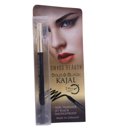 SHOPTOSHOP Swiss Beauty Bold & Black Super Long Lasting Kajal (EK-12) product image