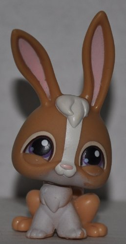 Rabbit #28 (Brown) - Littlest Pet Shop (Retired) Collector Toy - LPS Collectible Replacement Figure - Loose (OOP Out of Package & Print (Littlest Pet Shop 28)